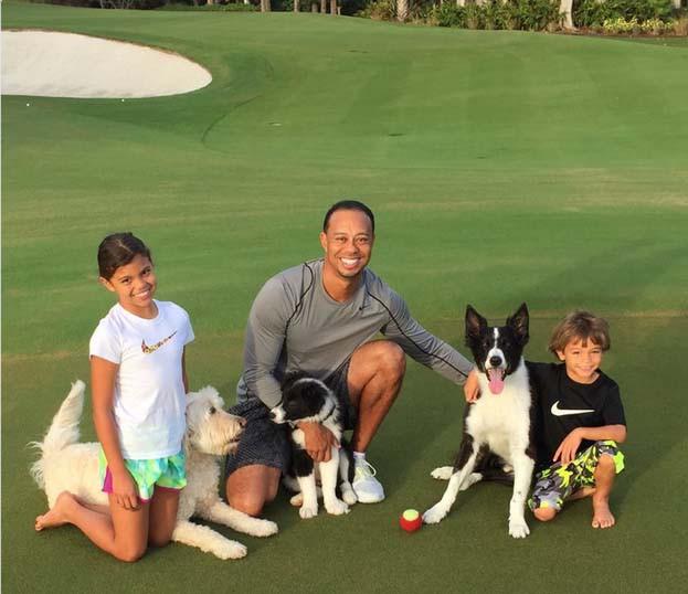 Tiger Woods và gia đình