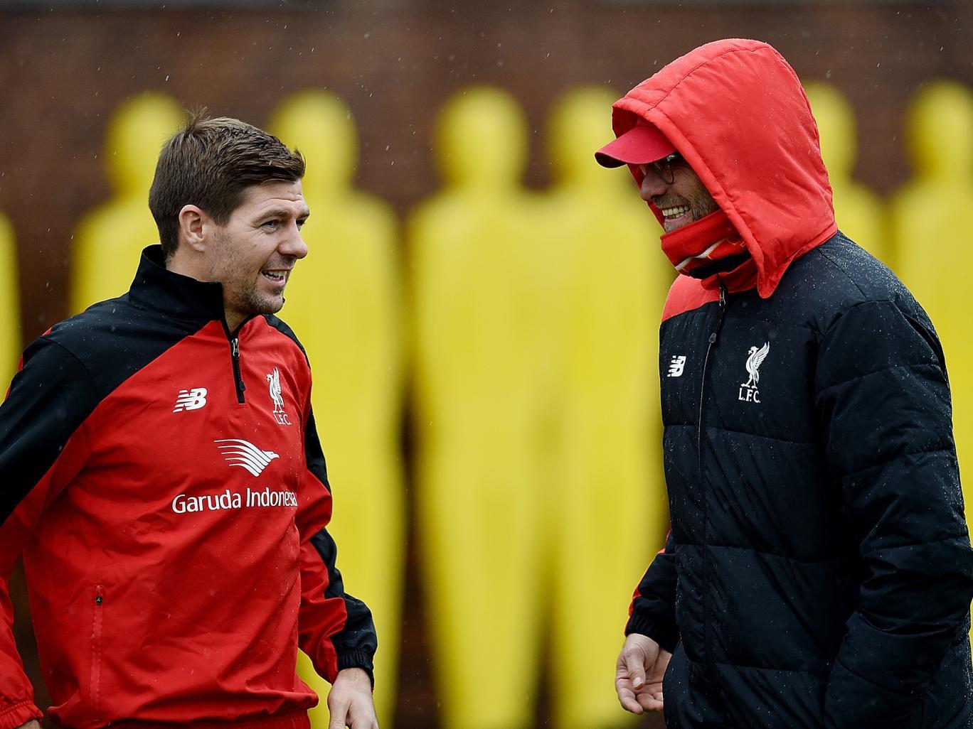 Gerrard đang tập luyện cùng CLB cũ Liverpool