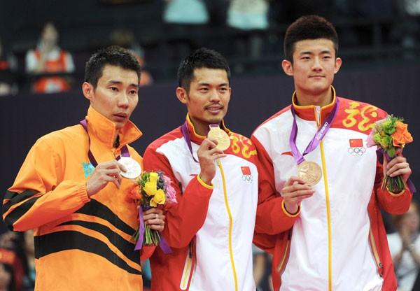 Ba tay vợt cầu lông mạnh nhất thế giới vào lúc này (lần lượt từ trái qua): Lee Chong Wei, Lin Dan, Chen Long