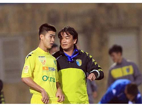 Duy Mạnh đã có màn thể hiện xuất sắc trong màu áo Hà Nội T&T ở V.League 2015