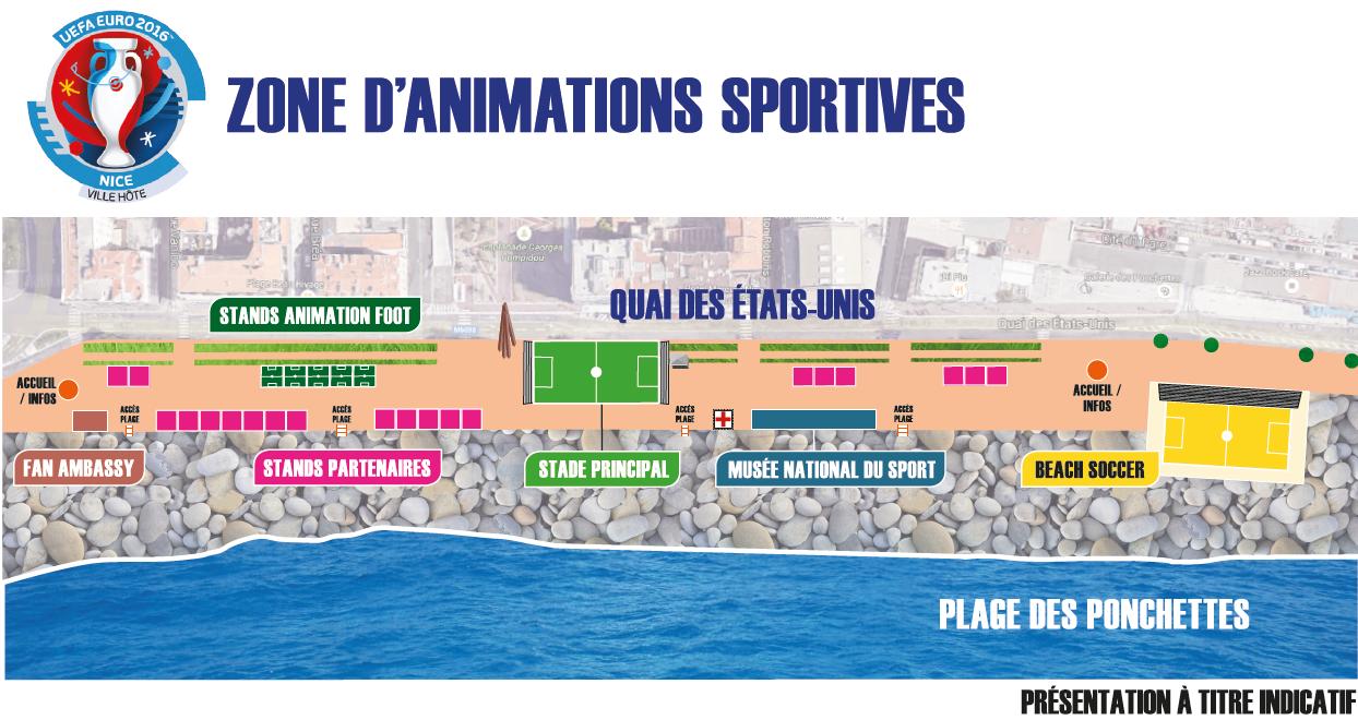 Sơ đồ khu fanzone ở Nice