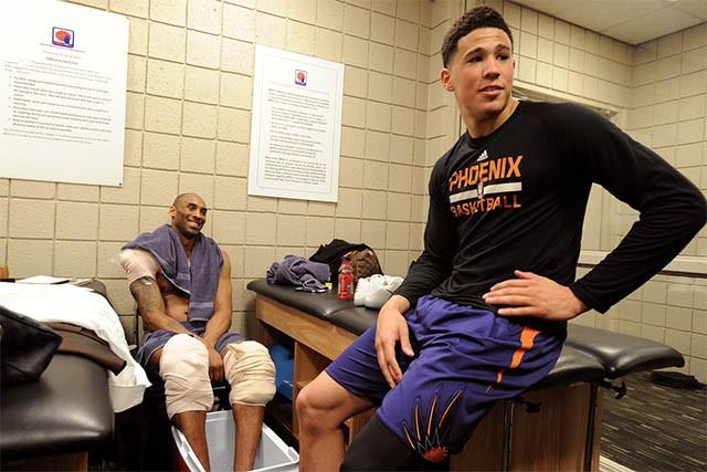 Kobe chính là nguồn động lực của Booker.