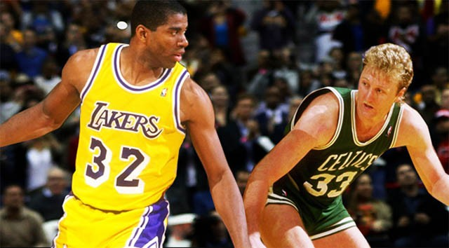 Thập kỷ 80, Magic Johnson và Larry Bird trở thành 2 biểu tượng thương hiệu cho NBA.
