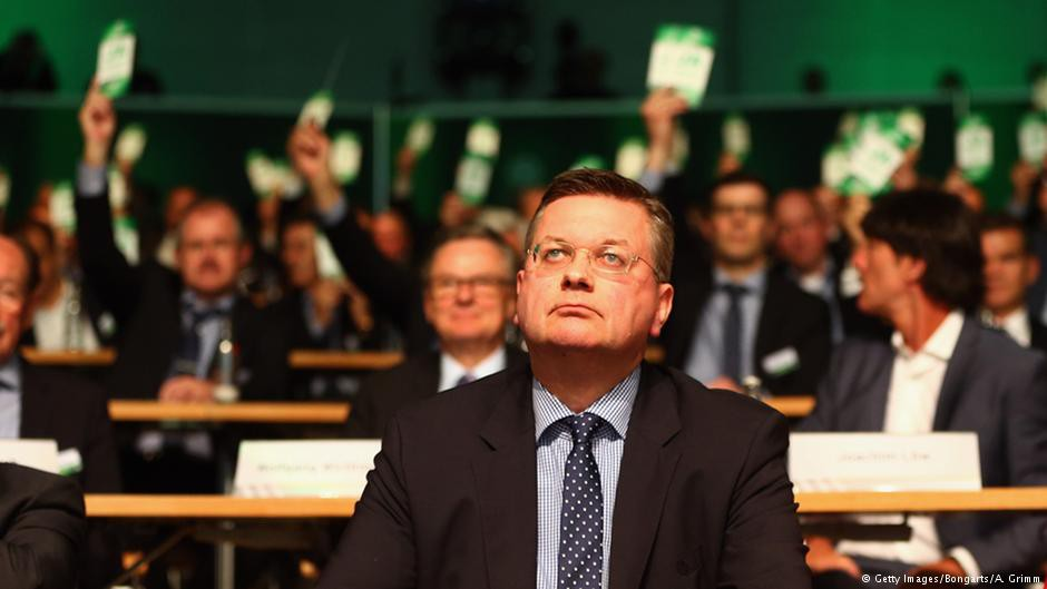 Reinhard Grindel vừa trở thành chủ tịch mới của LĐBĐ Đức.