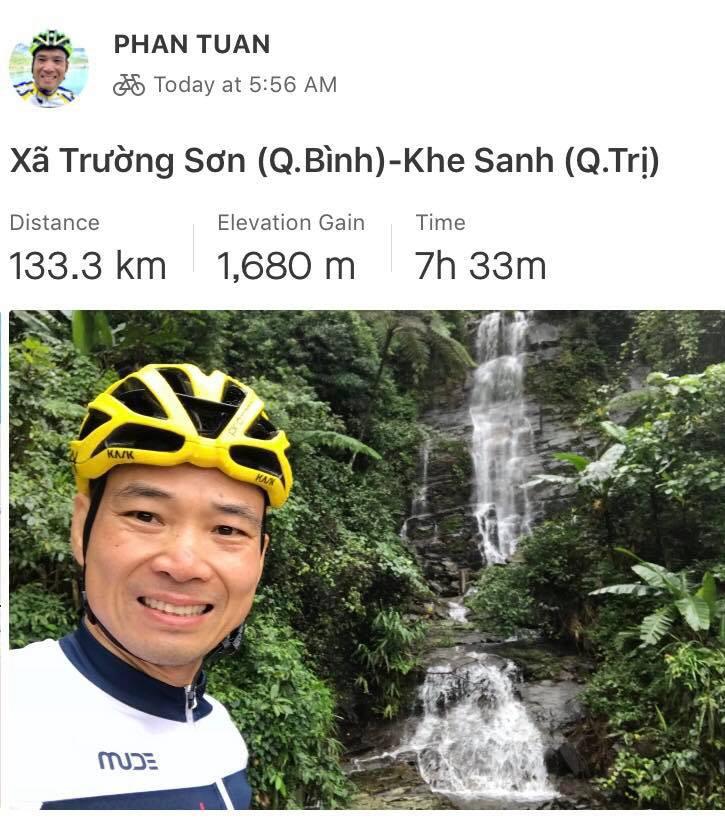 Chặng Trường Sơn đi Khe Sanh có quãng đường ngắn nhất (135km) nhưng có độ dốc cao (gần 1700m)