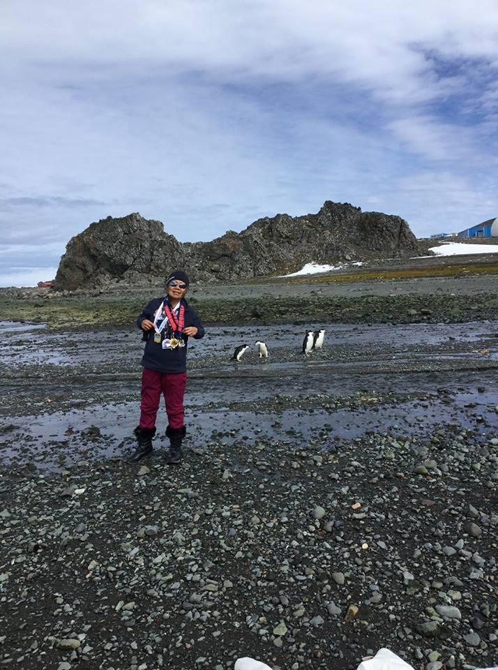 Bà Châu Smith ở chặng đua tại Nam Cực trên hành trình hoàn thanh thử thách 888