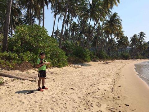 VĐV Nguyễn Doãn Cường chạy thử đường đua cự ly 70km