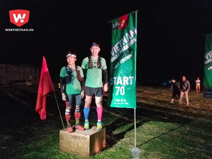 Race Director giới thiệu 2 ''sweeper'' đặc biệt. Nguyễn Đức Quang (hạng Nhì 42km nam VMM 2016) và Nguyễn Doãn Cường (VĐV người Việt xuất sắc nhất 70km VMM 2015)