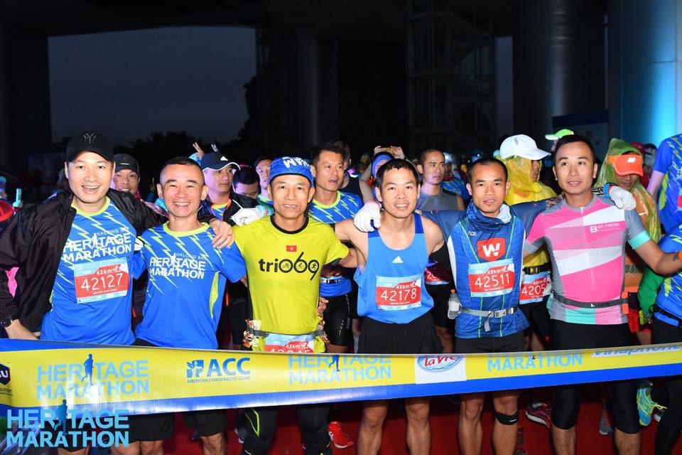 Tiến Hùng tại giải Halong Bay Heritage Marathon 2017. Ảnh: NVCC
