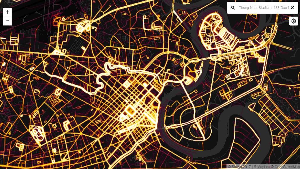 Các địa điểm: Dinh Độc Lập, phố đi bộ, các SVĐ, công viên, khu đô thị PMH, Sala thu hút nhiều runner