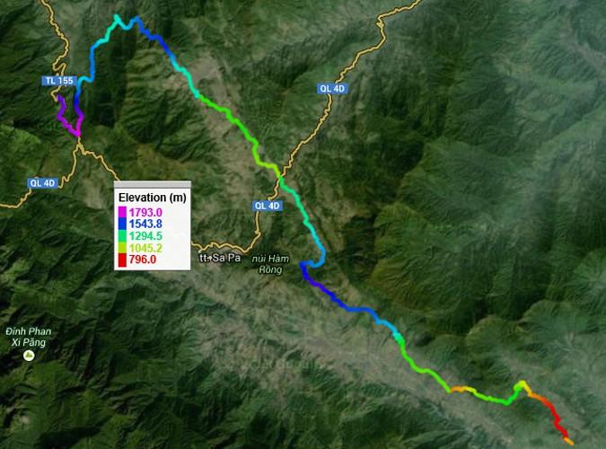 Đường chạy Vietnam Mountain Marathon cự li 42 km