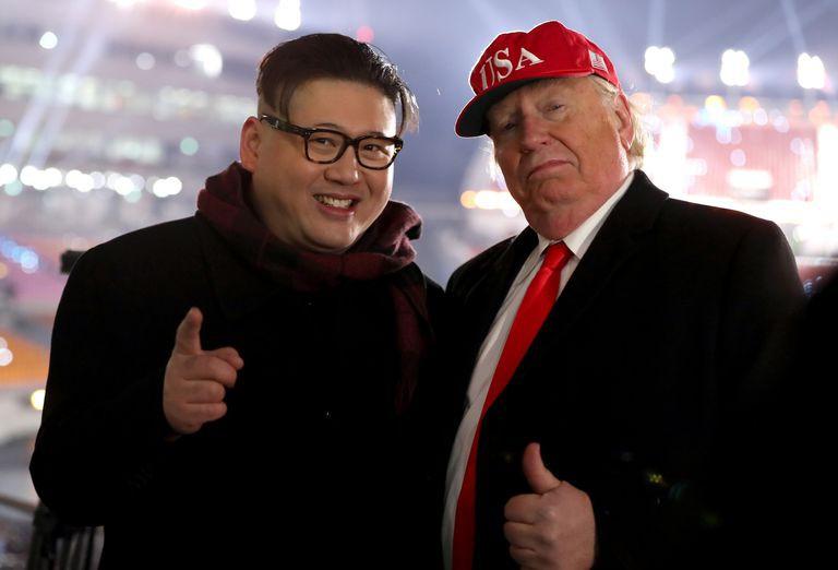 Tổng thống Donald Trump và Chủ tịch Kim Jong Un giả