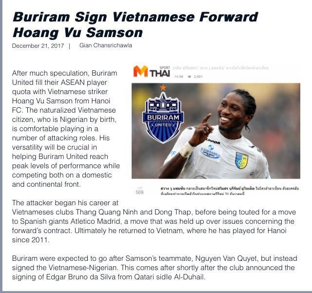 Hình ảnh Hoàng Vũ Samson gia nhập Buriram United