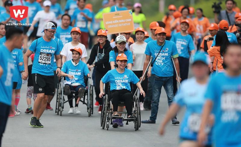 HCMC Marathon 2018 cũng là một giải thu hút rất nhiều các runner khuyết tật với hơn một trăm VĐV tham gia.