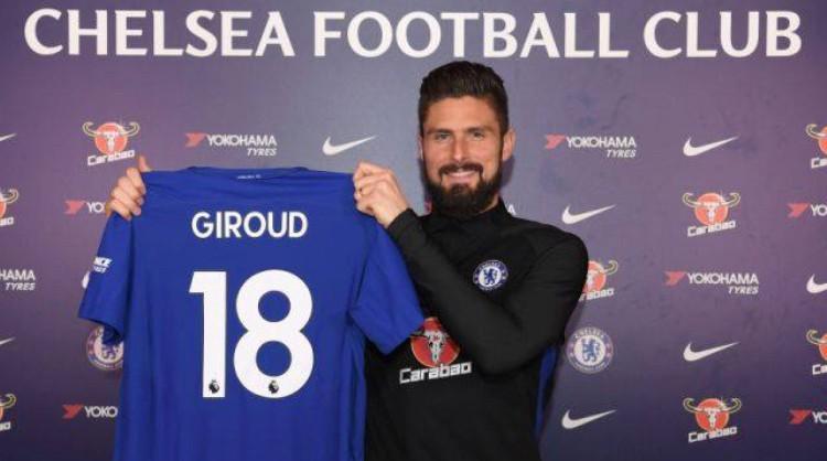 Giroud sẽ mặc áo số 18 ở Chelsea