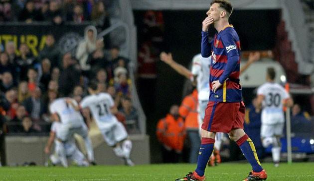 Messi ghi bàn nhưng Barca vẫn đánh rơi 3 điểm