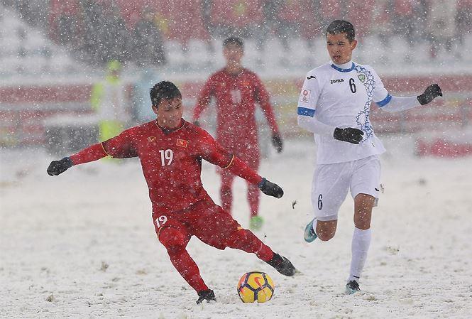 Hình ảnh Quang Hải được đề cử bàn thắng đẹp nhất VCK U23 Châu Á