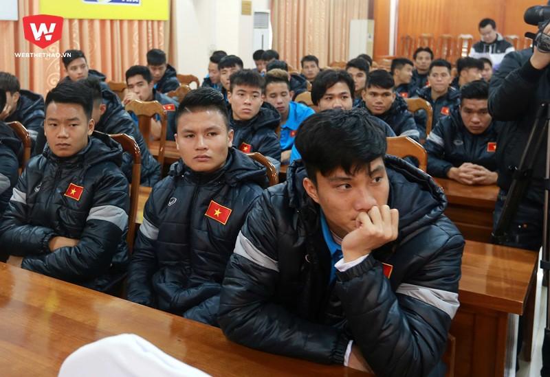 Các cầu thủ U23 Việt Nam sẽ đón Tết dương ở Trung Quốc. Hình ảnh: Hải Đăng.