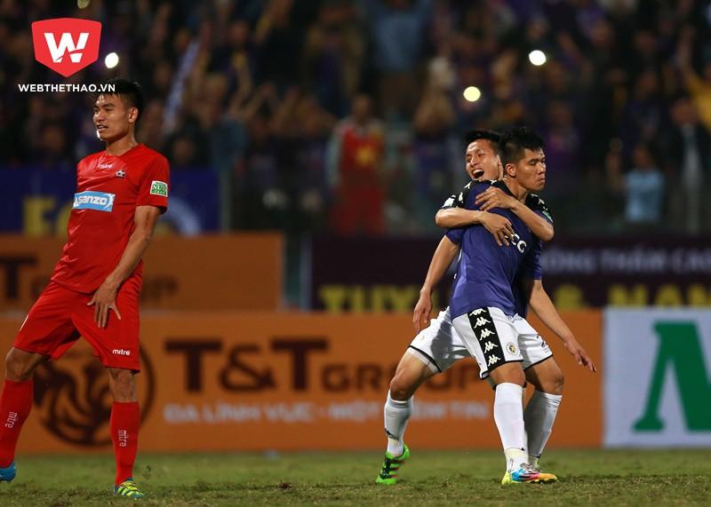 Hà Nội FC giành chiến thắng 1-0 nhờ bàn thắng duy nhất của tân binh Ngân Văn Đại. Hình ảnh: Hải Đăng.