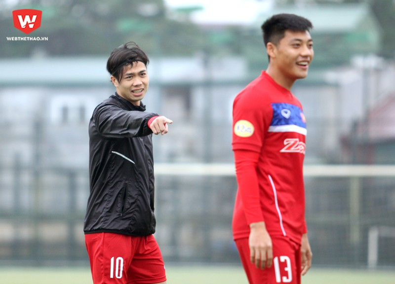 Công Phượng đã hồi phục tốt chấn thương cổ chân trái gặp phải vào ngày 27/12. Anh chắc chắn sẽ cùng U23 Việt Nam tham dự VCK U23 châu Á 2018. Hình ảnh: Trung Thu.