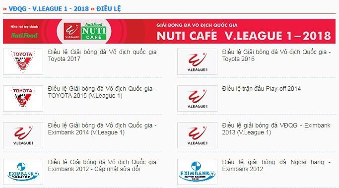 Điều lệ V.League 2018 vẫn chưa được công bố dù vòng 1 chỉ còn 3 ngày nữa là khởi tranh.