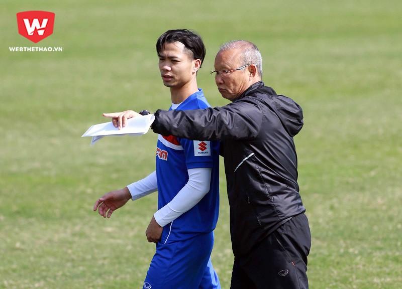 HLV Park Hang Seo, Công Phượng và các thành viên U23 Việt Nam đang dồn sự tập trung cao nhất cho VCK U23 châu Á 2018. Hình ảnh: Hải Đăng.