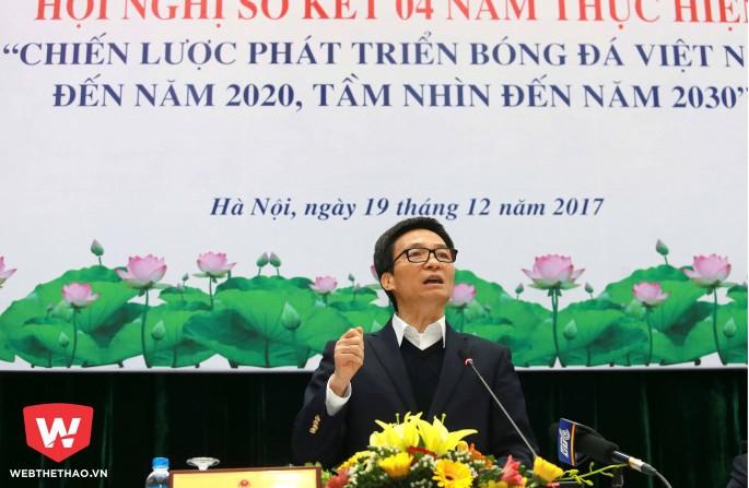 Hội nghị sơ kết 4 năm thực hiện chiến lược phát triển bóng đá Việt Nam chưa đem lại sự hài lòng từ nhiều người. Hình ảnh: Hải Đăng.