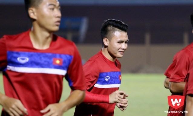 Tiền vệ Nguyễn Quang Hải (ảnh) cùng lứa cầu thủ 1997, 1999 được đánh giá đầy tiềm năng. Hình ảnh: Quang Thịnh.