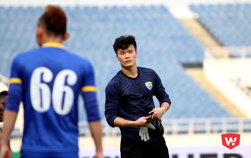 Bùi Tiến Dũng được bắt chính là thông tin đáng chú ý nhất trước trận FLC Thanh Hóa tiếp đón Global Cebu tại vòng 1 bảng G AFC Cup. Hình ảnh: Trung Thu.