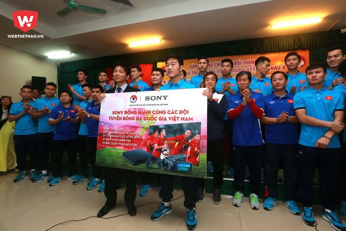 U23 Việt Nam vẫn chưa được nhận toàn bộ số tiền thưởng mà các doanh nghiệp, cá nhân hứa thưởng. Hình ảnh: Hải Đăng.