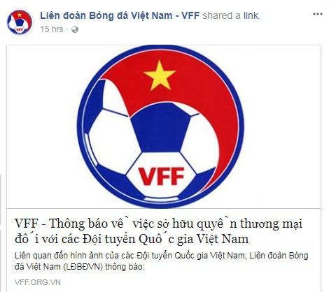 VFF thông báo về quyền sử dụng hình ảnh của các đội tuyển quốc gia vào mục đích thương mại.