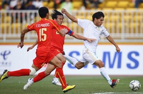 Olympic Việt Nam đánh bại Olympic Bahrain 3-1.