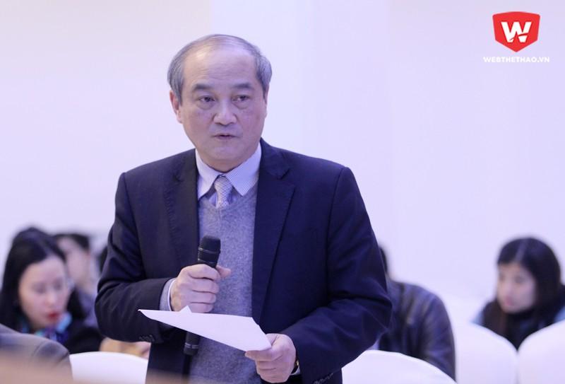 Ông Vương Bích Thắng, Tổng cục trưởng Tổng cục TDTT, cũng thừa nhận như ông Tuấn và kiên quyết chấn chỉnh vấn đề này. Hình ảnh: Trung Thu.