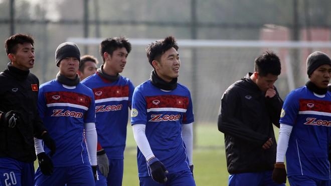 Lương Xuân Trường (giữa) khẳng định U23 Việt Nam bước vào VCK U23 châu Á 2018 với tâm lý không có gì để mất. Hình ảnh: VFF.