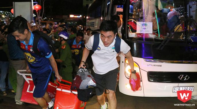 Từ hiệu ứng U23 Việt Nam đến việc Xuân Trường, Tuấn Anh tái xuất, người hâm mộ đang rất kỳ vọng vào đội hình tham dự V.League 2018 của HAGL. Hình ảnh: Quang Thịnh.