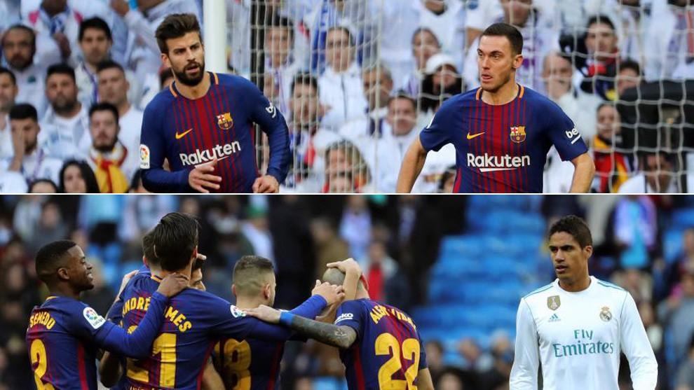 Hình ảnh: Barca giải quyết tốt cho cặp trung vệ, nhưng Real thì không