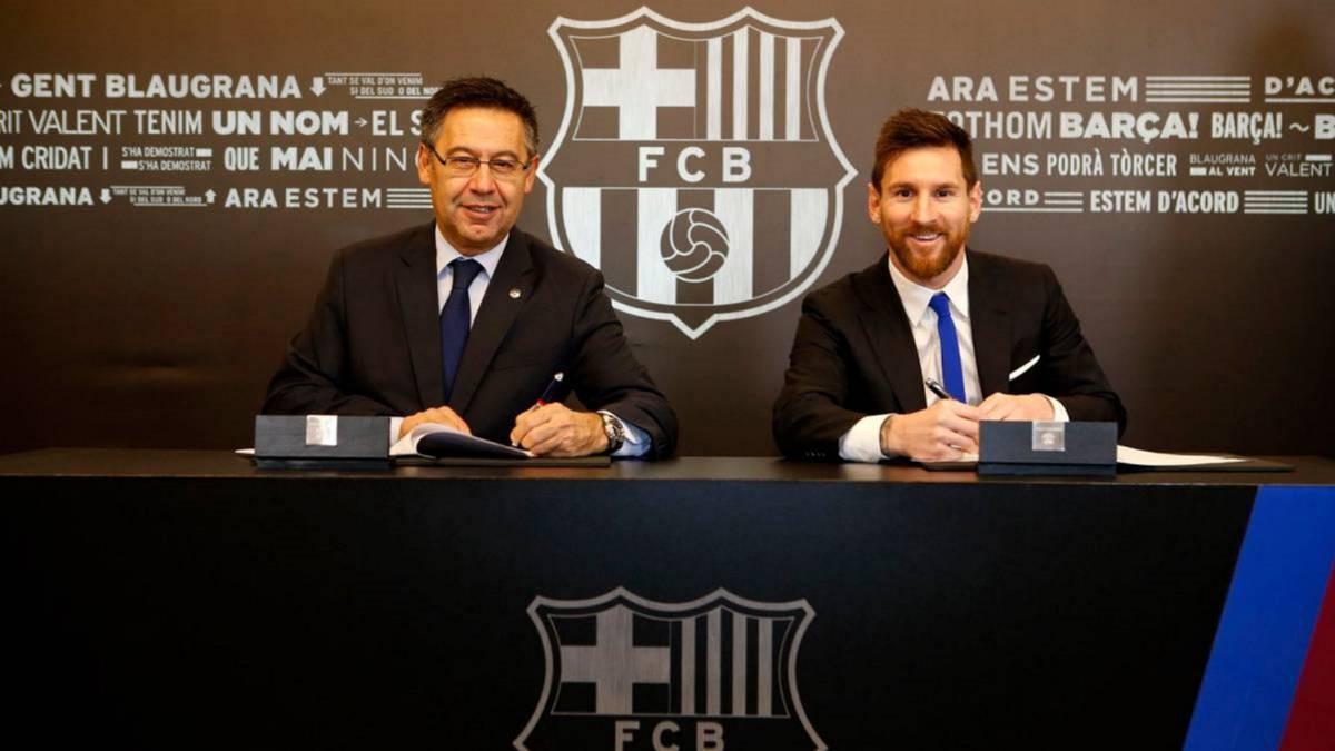 Hình ảnh: Messi được thưởng lớn nhờ gia hạn với Barca