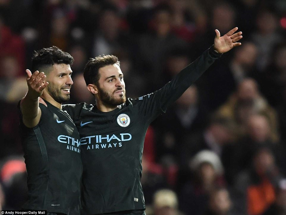 Hình ảnh: Aguero đóng góp 1 bàn cho Man City