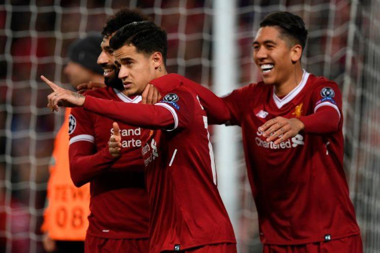 Hình ảnh: Liverpool không cần thiết có cả 4 cầu thủ tấn công trên sân