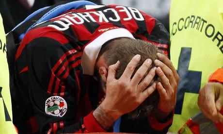 Hình ảnh: Beckham thất vọng khi bị chấn thương