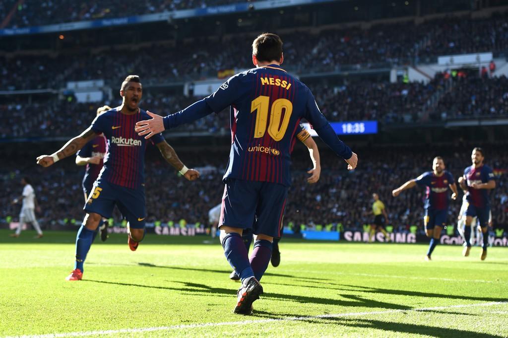 Hình ảnh: Messi thường xuyên khiến Real đau khổ trên sân Bernabeu
