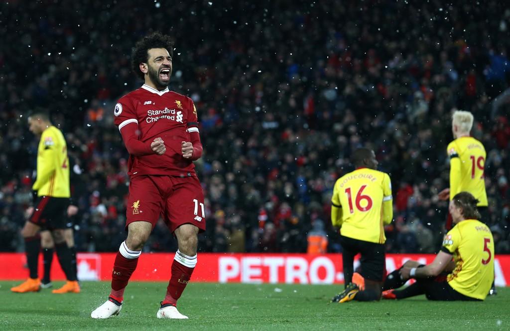 Hình ảnh: Salah ghi 4 bàn vào lưới Watford