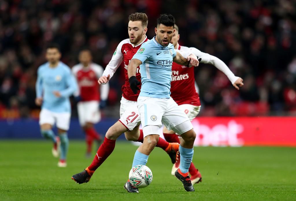 Hình ảnh: Hình ảnh: Aguero mở tỷ số cho Man City trước Arsenal