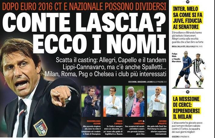 Hình ảnh: Conte từ chối gia hạn hợp đồng với ĐT Italia