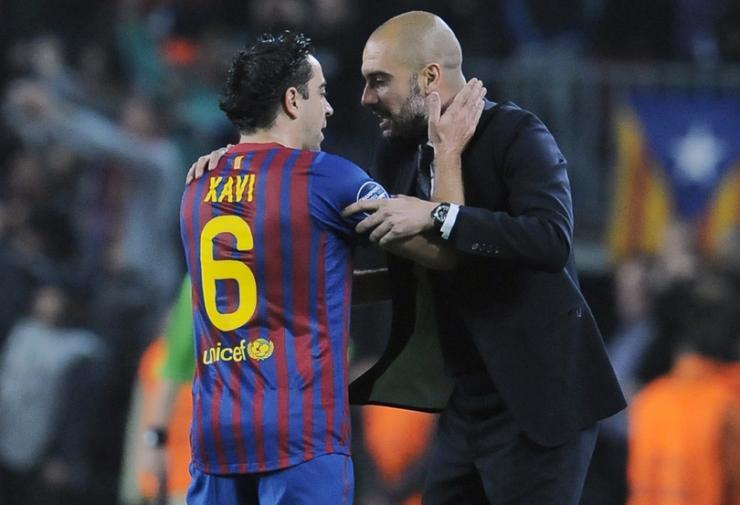 Hình ảnh: Barca của Guardiola chuyền bóng và kiểm soát bóng vượt trội