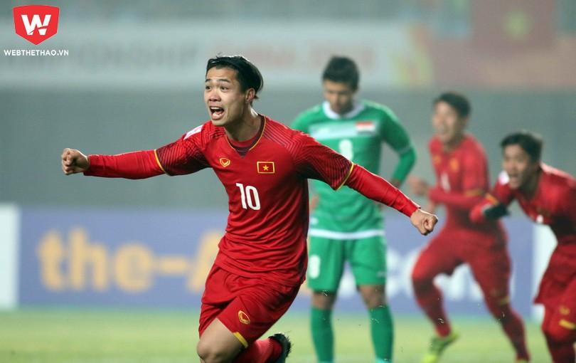 Công Phượng đã có pha lập công đầu tiên ở VCK U23 châu Á 2018. Ảnh: Anh Khoa