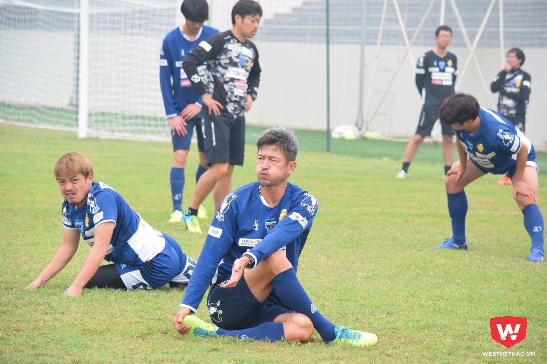 Cầu thủ 51 tuổi Kazu Miura đang có mặt ở Đà Nẵng. Ảnh: Việt Nguyễn