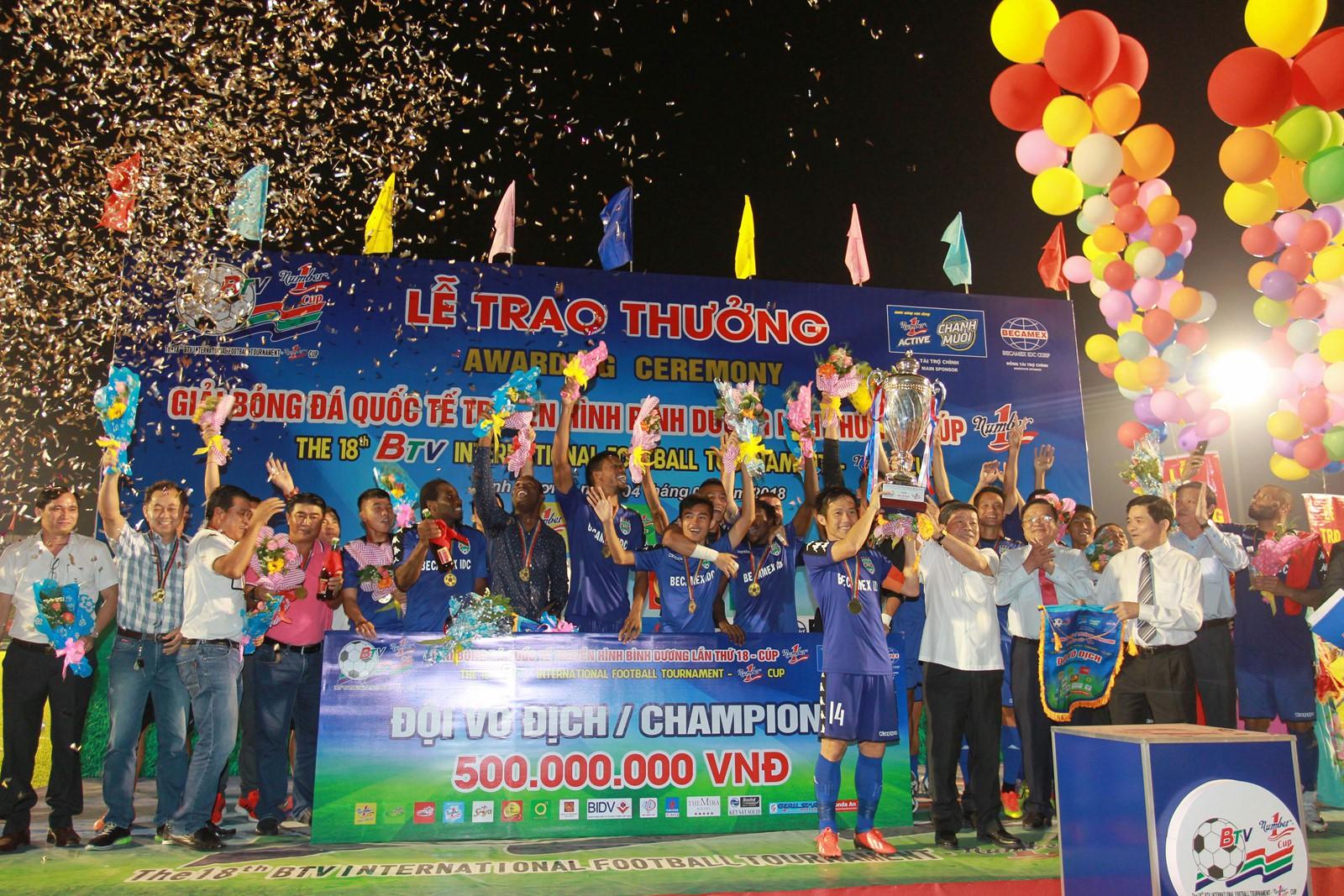 B.Bình Dương đoạt chức vô địch BTV Cup sau 5 năm chờ đợi. Ảnh: Thanh niên
