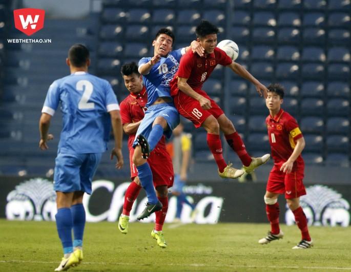 U23 Việt Nam sẽ phải đối mặt với những đối thủ có thể hình vượt trội ở VCK U23 châu Á 2018. Ảnh: Quang Thịnh