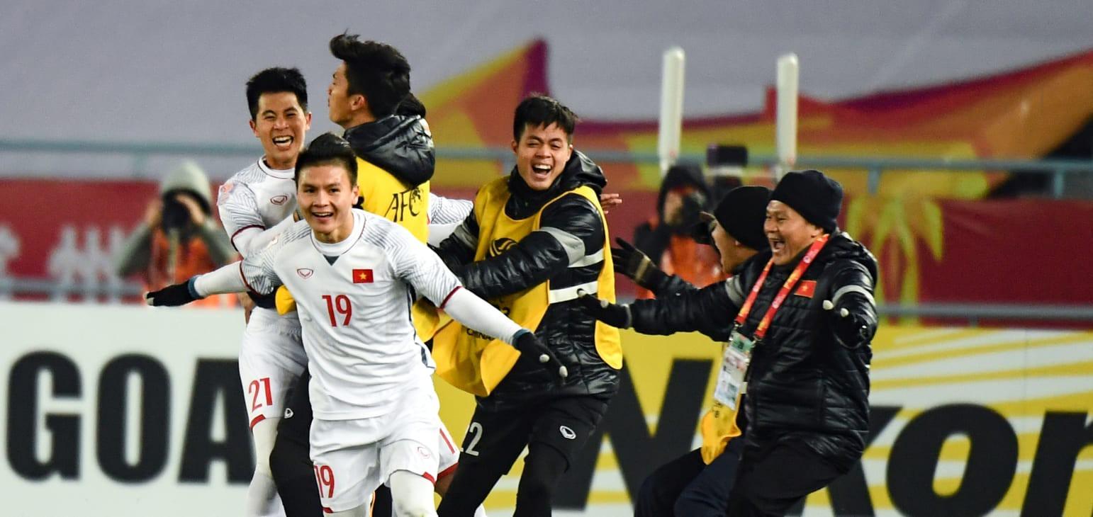 U23 Việt Nam đã làm nên lịch sử cho bóng đá Đông Nam Á ở sân chơi châu lục. Ảnh: AFC